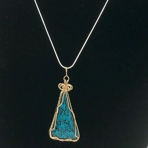 Jewelry - Vintage Style Dichroic Glass Necklace